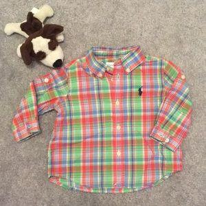 Ralph Lauren Plaid Dress Shirt NWT